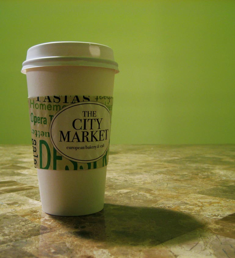"""City Market Coffee Sleeve"""